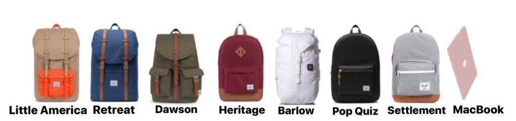 Modelos de mochilas Herchel