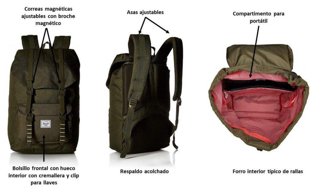 Caracterísiticas de la mochila Herschel Little America