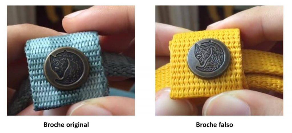 Broche original vs broche falso