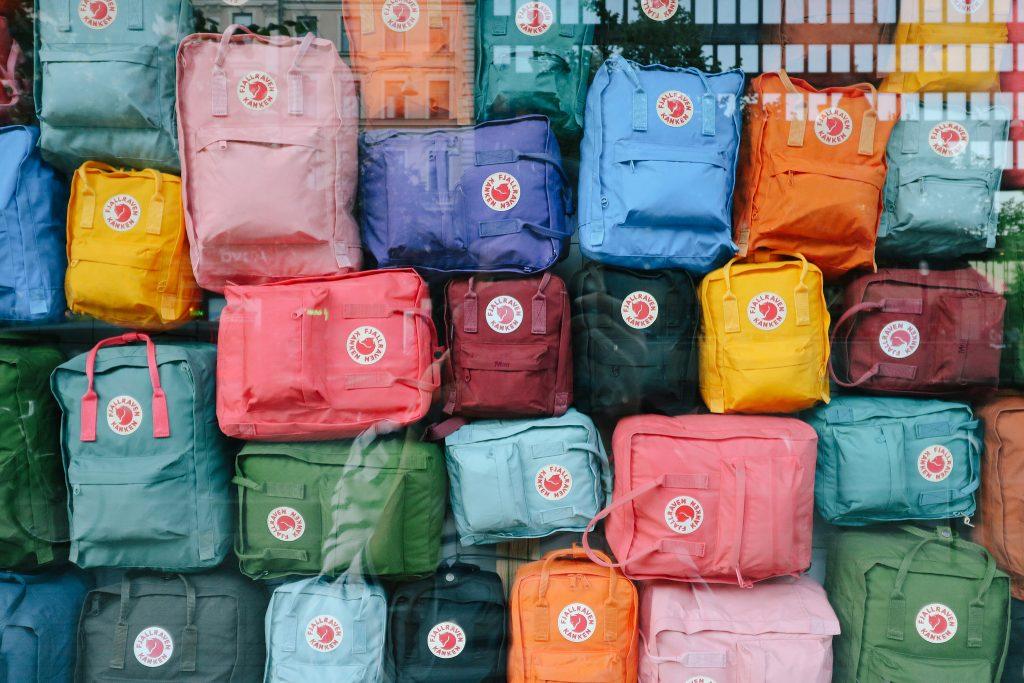 Fjallraven Kanken colores backpacks