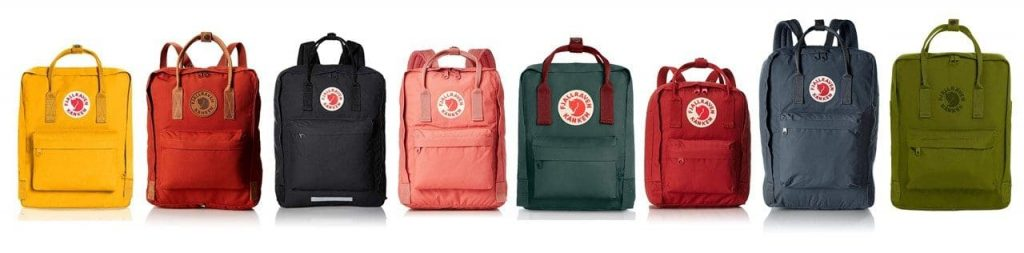 Todos los modelos de mochilas Kanken